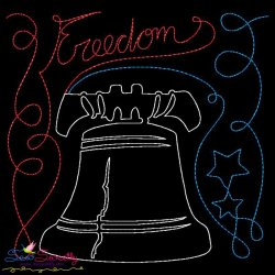 Freedom Patriotic Colorwork Block Embroidery Design