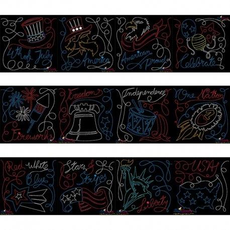 4th of July Patriotic Redwork Blocks Embroidery Design Bundle Pattern- Category- Embroidery Design Bundles- 1
