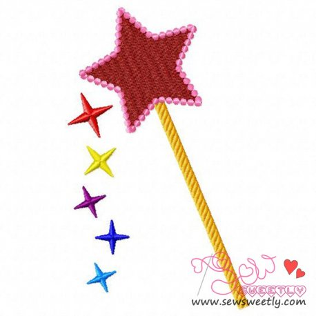 Magic Wand Embroidery Design