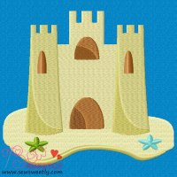 Sand Castle-1 Embroidery Design
