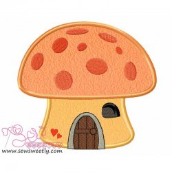 Mushroom House Applique Design