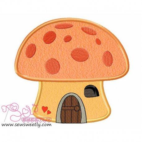Mushroom House Applique Design