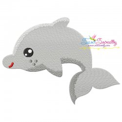 Baby Dolphin Machine Embroidery Design