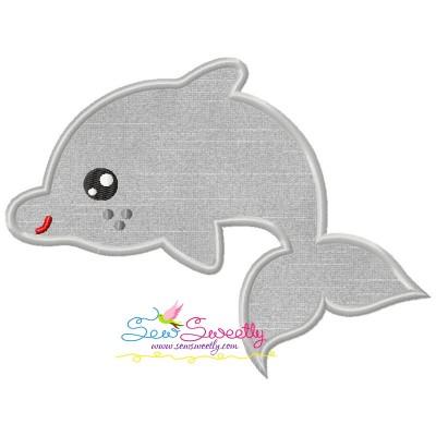 Baby Dolphin Applique Design