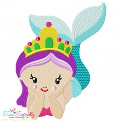 Baby Mermaid-2 Embroidery Design