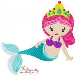 Baby Mermaid-1 Embroidery Design