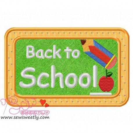 Back To School-3 Applique Design