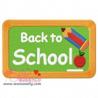 Back To School-3 Embroidery Design