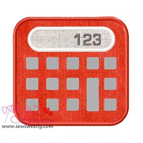 Calculator Applique Design