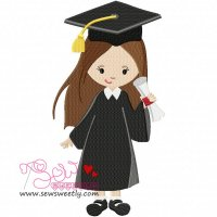 Graduation Girl-2 Embroidery Design