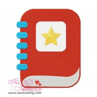 School Diary Embroidery Design