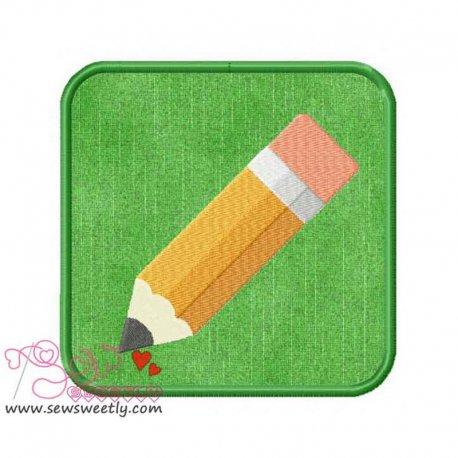 Small Pencil Applique Design