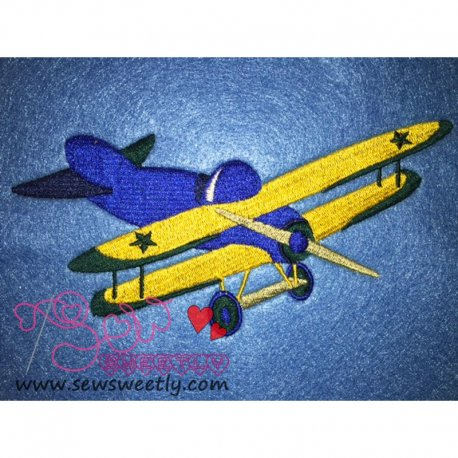 Airplane-1 Embroidery Design