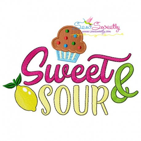 Sweet and Sour Machine Embroidery Design