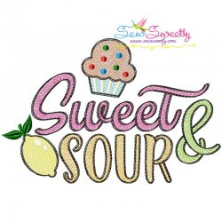 Sweet and Sour Sketch Machine Embroidery Design- Category- Sketch/Light Fill Embroidery Designs- 1