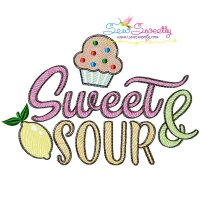 Sweet and Sour Sketch Machine Embroidery Design
