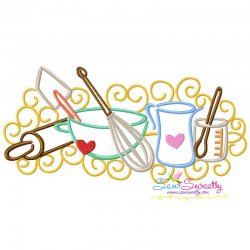 Swirly Kitchen-7 Machine Embroidery Design