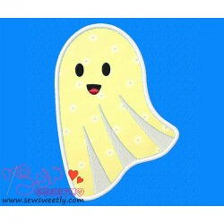 Cute Ghost Applique Design
