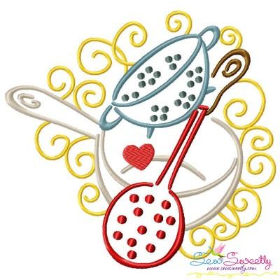 Swirly Kitchen-6 Machine Embroidery Design