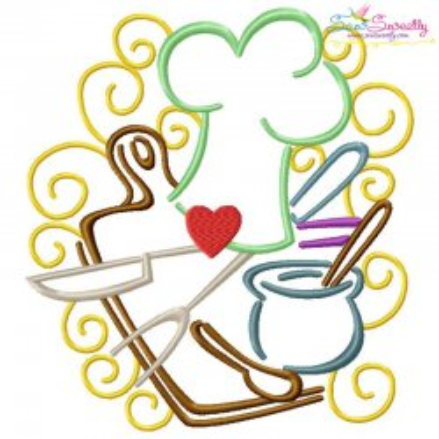 Swirly Kitchen-3 Machine Embroidery Design