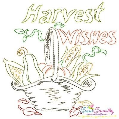 Harvest Wishes Bean/Vintage Stitch Machine Embroidery Design