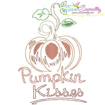 Pumpkin Kisses Bean/Vintage Stitch Machine Embroidery Design