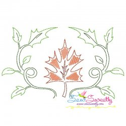 Fall Leaves-2 Bean/Vintage Stitch Machine Embroidery Design