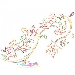 Fall Leaves Bean/Vintage Stitch Machine Embroidery Design