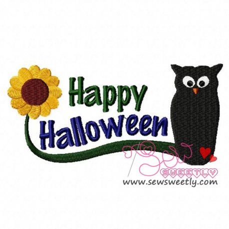 Halloween Owl Embroidery Design
