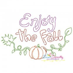 Enjoy The Fall Bean/Vintage Stitch Machine Embroidery Design