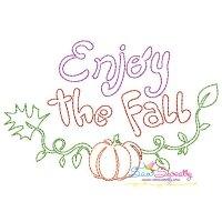 Enjoy The Fall Bean/Vintage Stitch Machine Embroidery Design