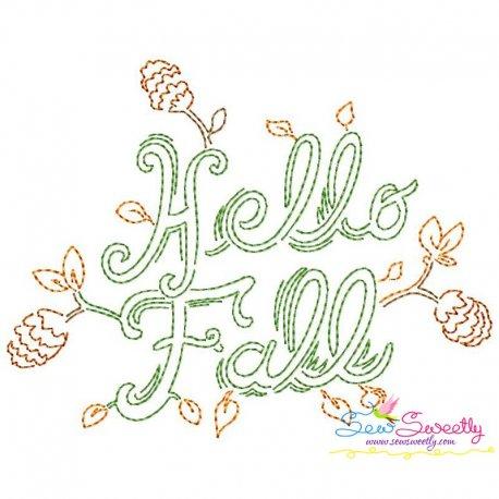 Hello Fall Bean/Vintage Stitch Machine Embroidery Design