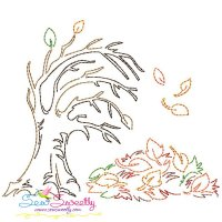 Falling Leaves Bean/Vintage Stitch Machine Embroidery Design