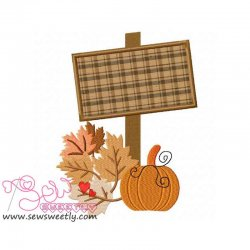 Halloween Sign-2 Applique Design