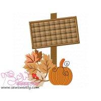 Halloween Sign-2 Applique Design