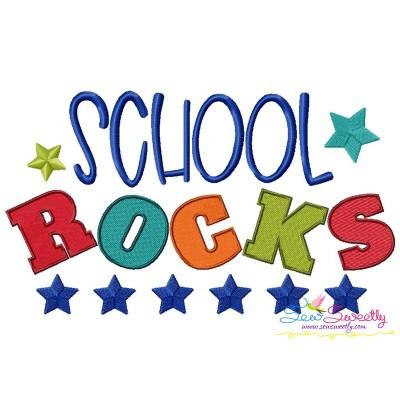 School Rocks Machine Embroidery Design