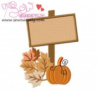 Halloween Sign-2 Embroidery Design