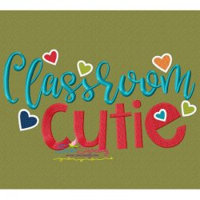 Classroom Cutie Machine Embroidery Design