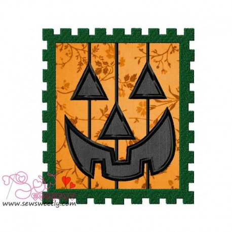 Halloween Stamp Applique Design
