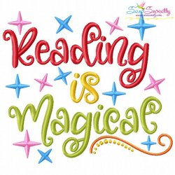 Reading is Magical Machine Embroidery Design