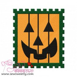 Halloween Stamp Embroidery Design