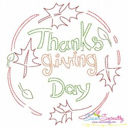 Color Work Thanksgiving Day Bean/Vintage Stitch Machine Embroidery Design Pattern- Category- Fall And Thanksgiving- 1