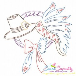 Color Work Thanksgiving-3 Bean/Vintage Stitch Machine Embroidery Design Pattern- Category- Fall And Thanksgiving- 1
