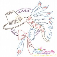 Color Work Thanksgiving-3 Bean/Vintage Stitch Machine Embroidery Design