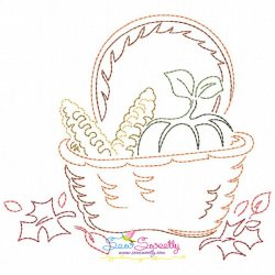 Color Work Thanksgiving-2 Bean/Vintage Stitch Machine Embroidery Design Pattern- Category- Fall And Thanksgiving- 1