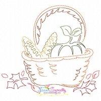 Color Work Thanksgiving-2 Bean/Vintage Stitch Machine Embroidery Design