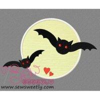 Scary Bats Applique Design