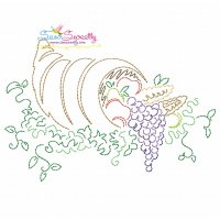 Color Work Thanksgiving-1 Bean/Vintage Stitch Machine Embroidery Design