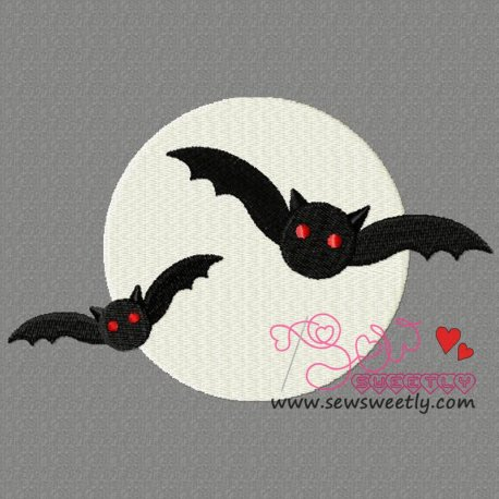 Scary Bats Embroidery Design