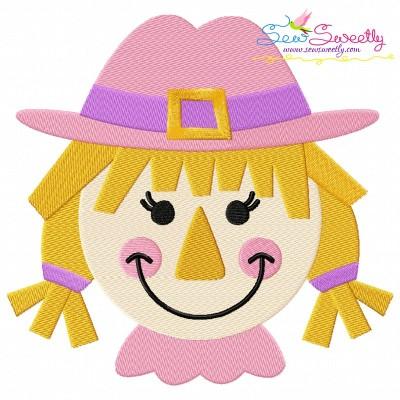 Girl Scarecrow Machine Embroidery Design
